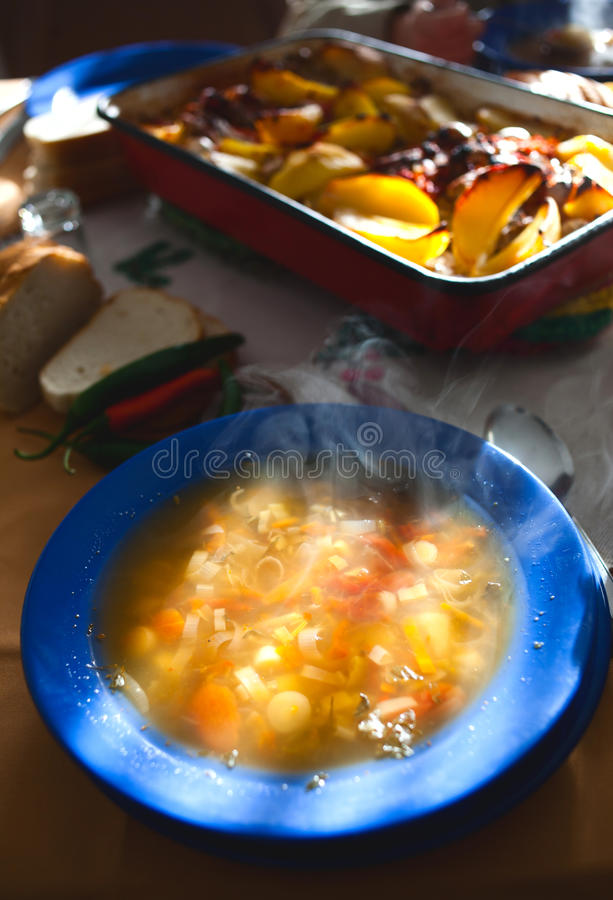 Download Hot soup meal stock photo. Image of grill, tasty, eating - 23693910