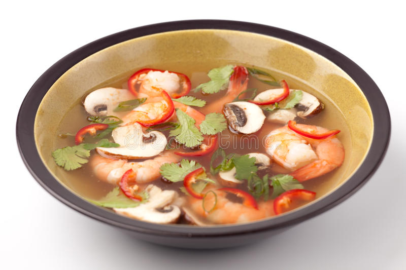Download Hot-And-Sour Prawn Soup stock image. Image of food, bowl - 13324027