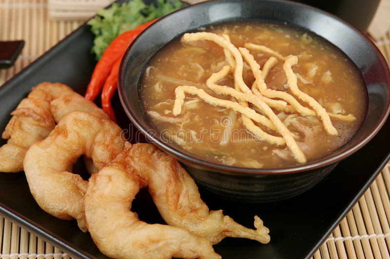 Download Hot & Sour Soup With Prawns Stock Image - Image: 761123