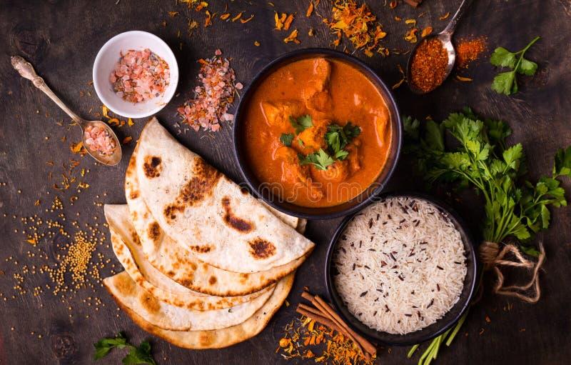 Hot spicy chicken tikka masala stock image