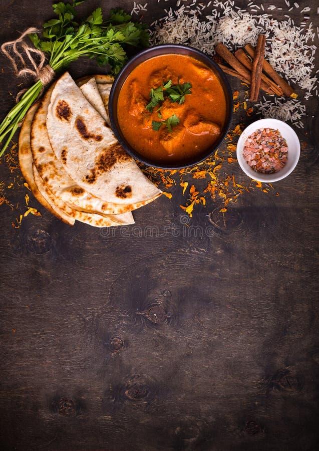 Hot spicy chicken tikka masala royalty free stock image