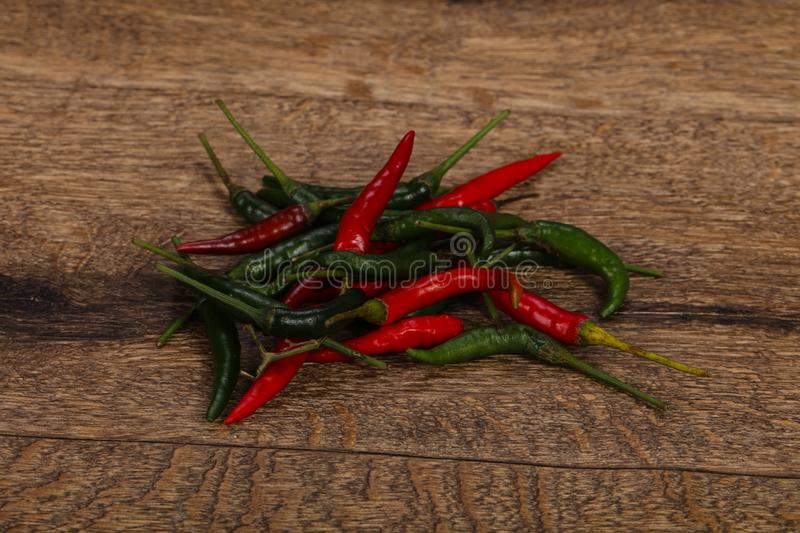 Hot and spicy Chili pepper heap stock photography