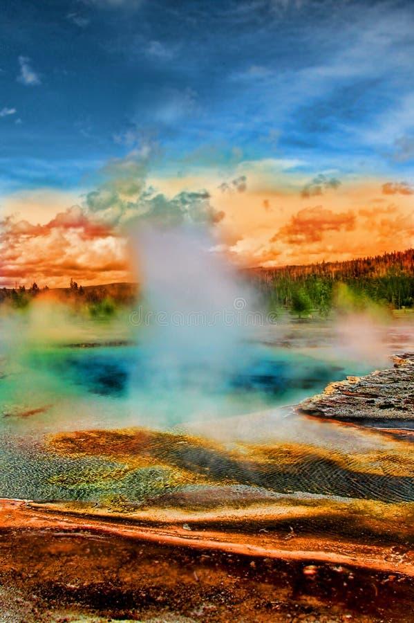 Hot Spring. At Yellowstone National Park stock photo