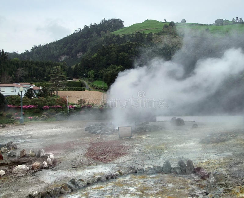 Download Hot spring at the Azores stock image. Image of spring - 34310603