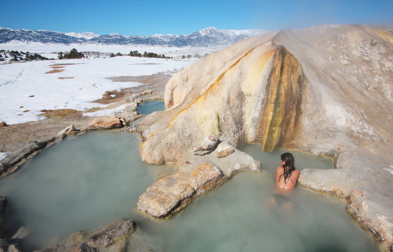 Hot Spring Heaven royalty free stock images