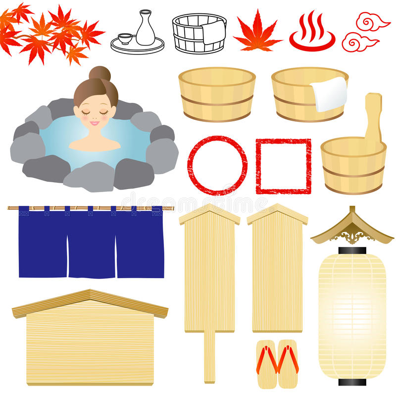 Download Hot-spring icons stock vector. Image of icon, bath, grain - 21158436