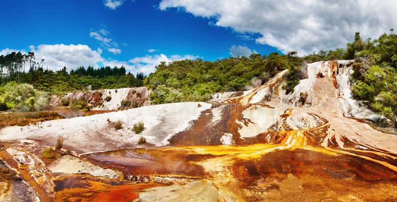 Hot spring, New Zealand royalty free stock images