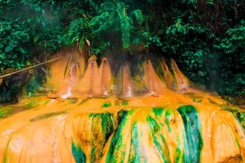 Hot springs called Pancuran Pitu royalty free stock photo