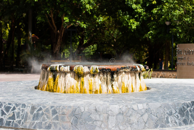A hot spring stock images