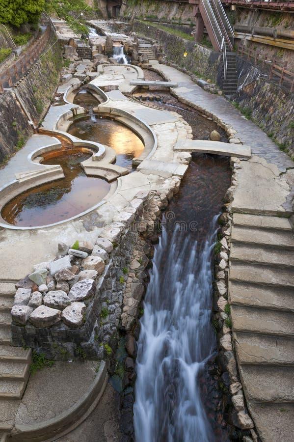 Free Hot Spring Stream Flowing Pass Town Centre Of Arima Onsen In Kita-ku, Kobe, Japan. Royalty Free Stock Image - 92441486