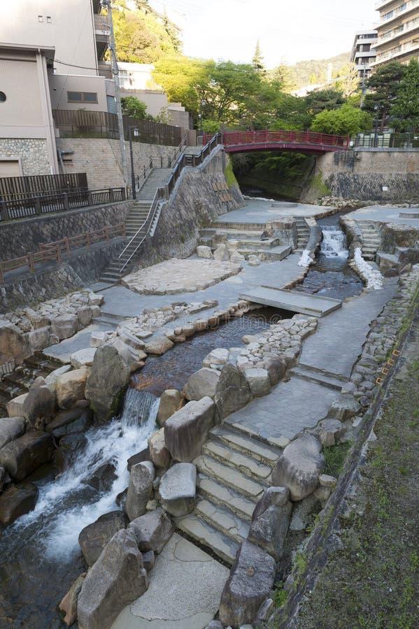 Free Hot Spring Stream Flowing Pass Town Centre Of Arima Onsen In Kita-ku, Kobe, Japan. Royalty Free Stock Photos - 92441548