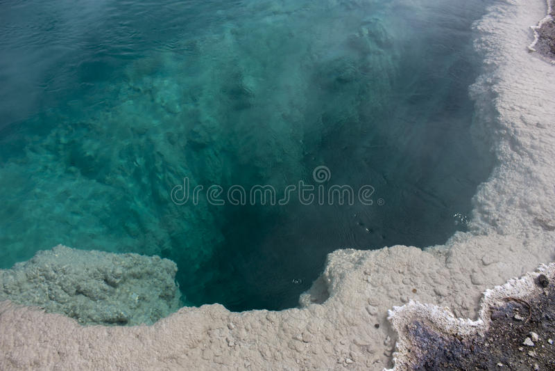 Hot spring in yellowstone stock photos