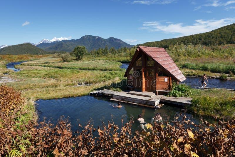 Hot Springs, associações térmicas com água mineral cura fotografia de stock