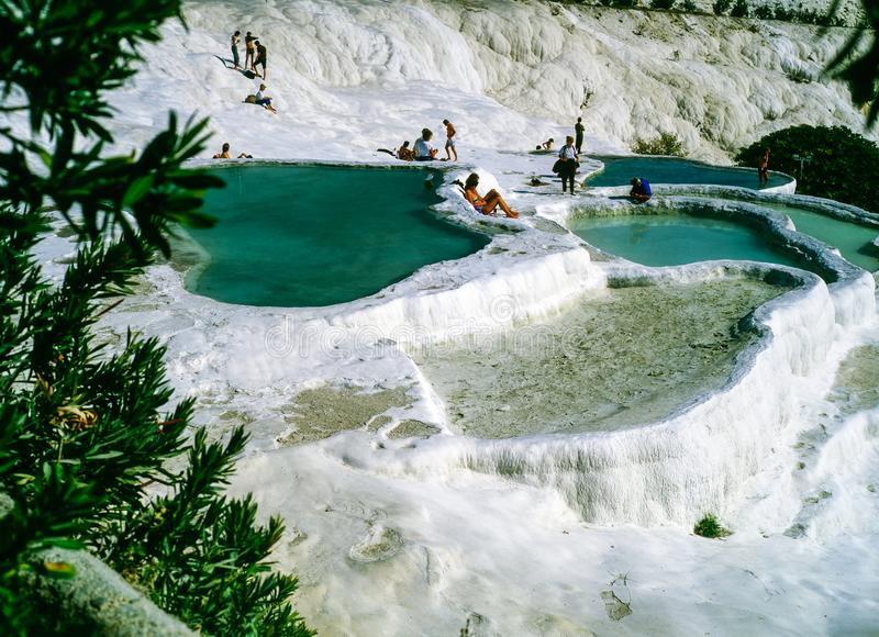 Hot Springs dans Pamukkale, Turquie photos stock