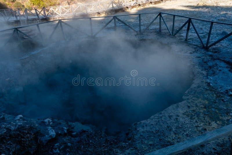 Hot springs, Furnas, Sao Miguel Island, Azores, Portugal stock image