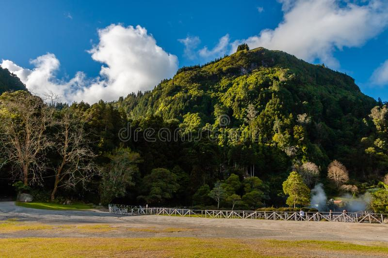 Hot springs, Furnas, Sao Miguel Island, Azores, Portugal stock images