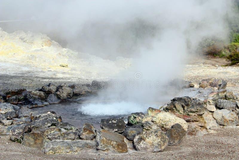 Hot Springs i Furnas, SaoMiguel ö, Azores, Portugal royaltyfri fotografi