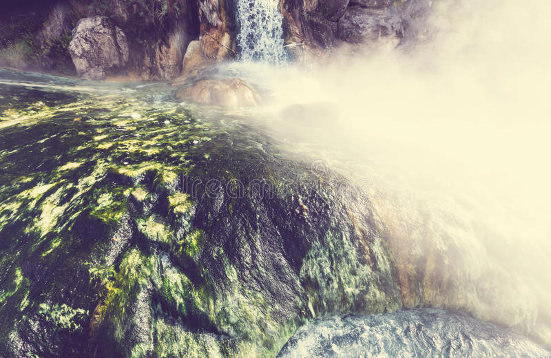 Hot Springs i Grekland arkivbild