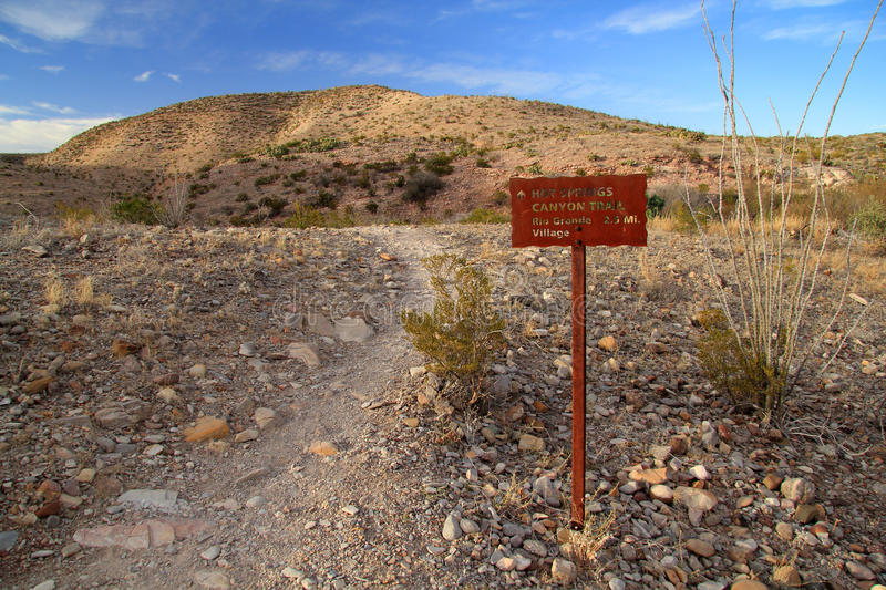 Hot Springs Loop Trail. The Short but Scenic Hot Springs Loop Trail in Big Bend National Park, Texas stock images