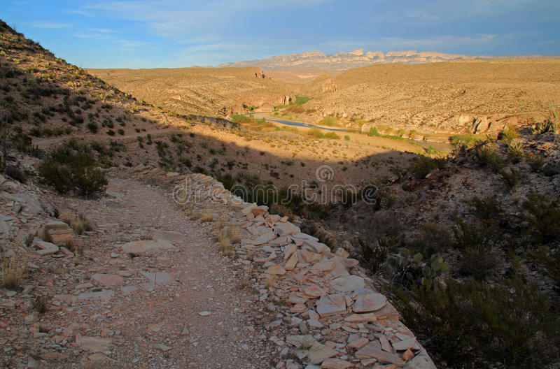 Hot Springs Loop Trail. The Short but Scenic Hot Springs Loop Trail in Big Bend National Park, Texas stock image