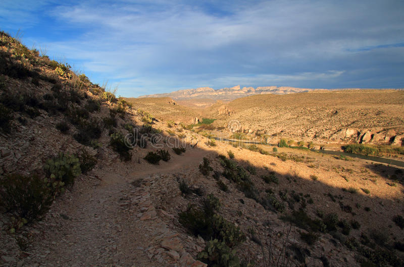 Hot Springs Loop Trail. The Short but Scenic Hot Springs Loop Trail in Big Bend National Park, Texas stock photography