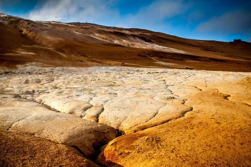 Hot Springs in Myvatn. In the north of Iceland royalty free stock photos