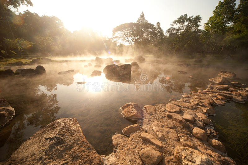 Hot springs in Northern of Thailand. royalty free stock images