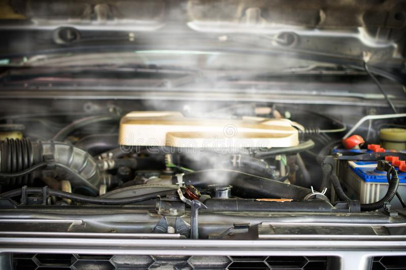 Hot Steam Coming Out Of Radiator, Car Engine Over Heat Stock Photo ...