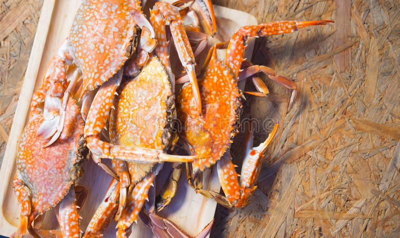 Hot steamed flower crab royalty free stock image