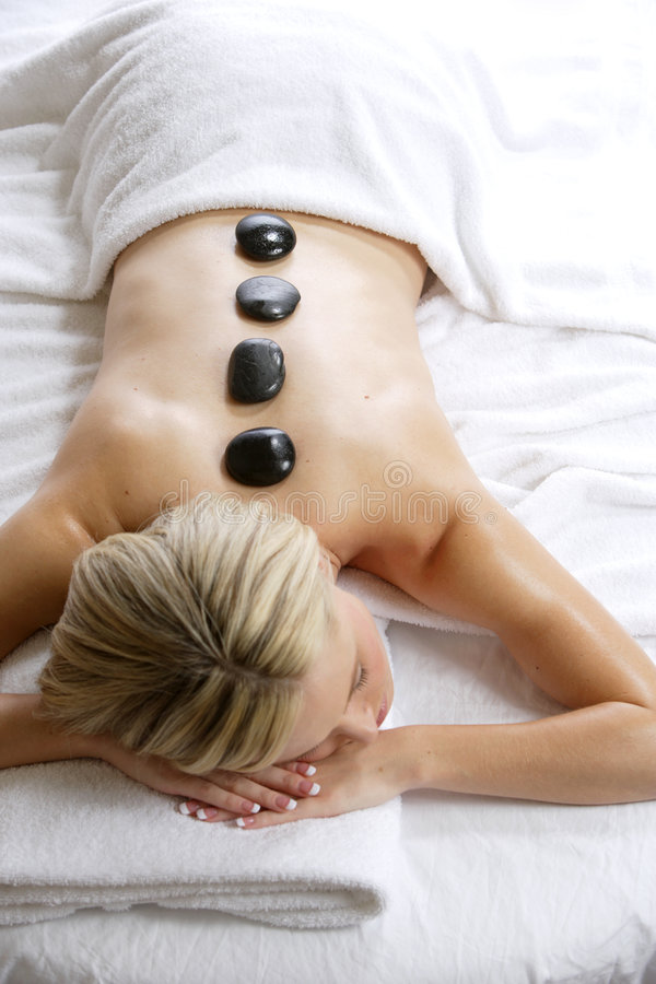 Hot Stone Massage royalty free stock image