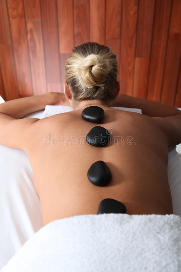 Download Hot stones massage stock photo. Image of well, woman - 16588186