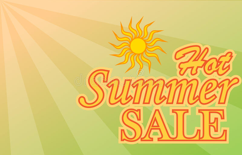 Hot Summer Sale banner royalty free illustration