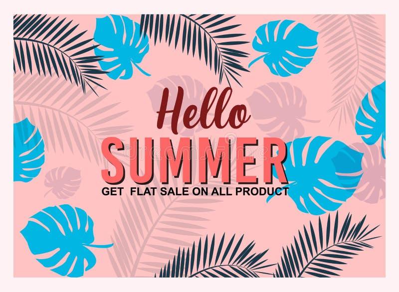 Hot Summer Sale banner and Design for social media poster, email, nieuwsbrief, advertentie, bijsluiter, placard, brochure, flyer, stock illustratie