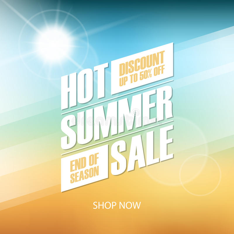 Hot Summer Sale special offer background for business, commerce and advertising. royalty free illustration