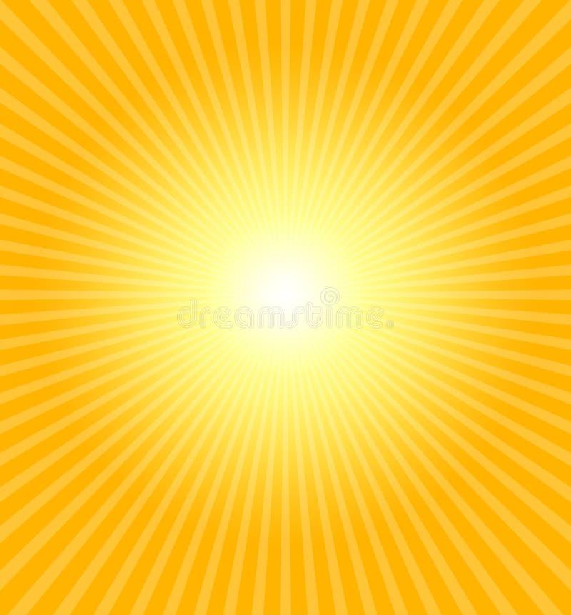 Hot summer sun. Really hot summer sun - illustration royalty free illustration