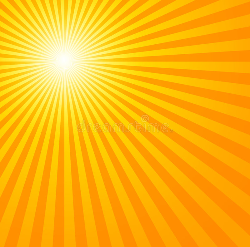 Hot summer sun stock illustration