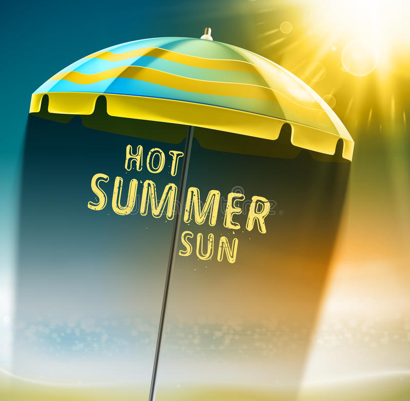 Hot summer sun vector illustration