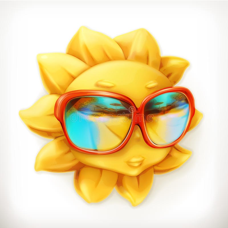 Hot summer sun royalty free illustration