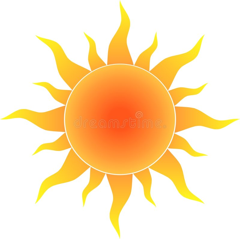 Hot sun royalty free illustration