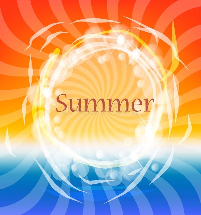 Hot sunny background stock illustration