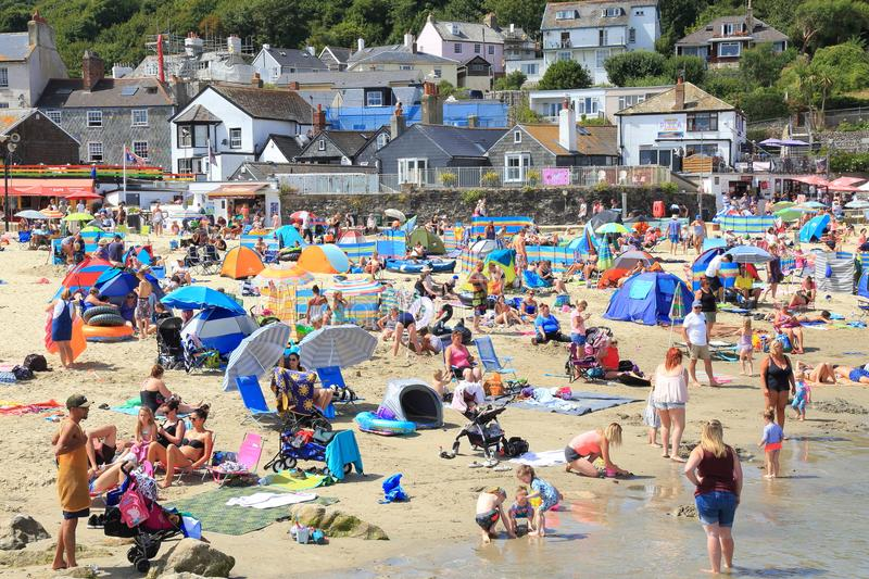 Hot and sunny day in Lyme Regis stock photography