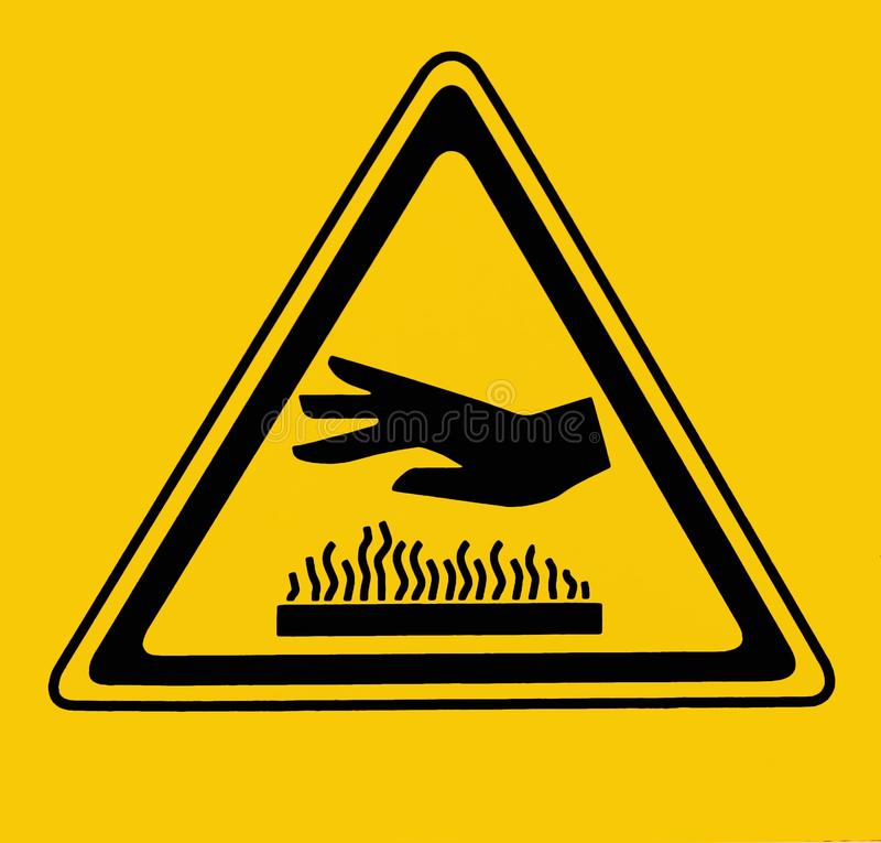 Free Hot Surface, Do Not Touch. Warning Sign Stock Photography - 148810302