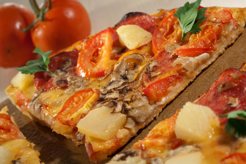 Download Hot Taste Pizza On The Table Stock Photo - Image: 16693560