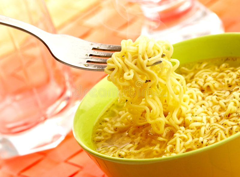 Hot and tasty noodles