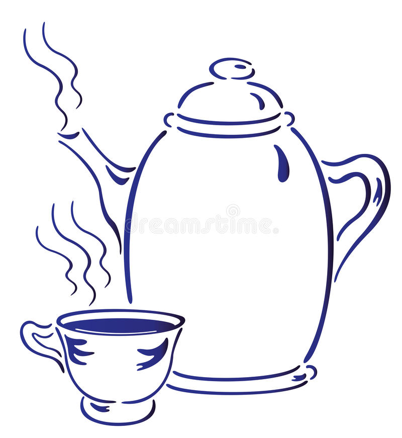 Download Hot Tea stock illustration. Illustration of clear, chinese - 12285895