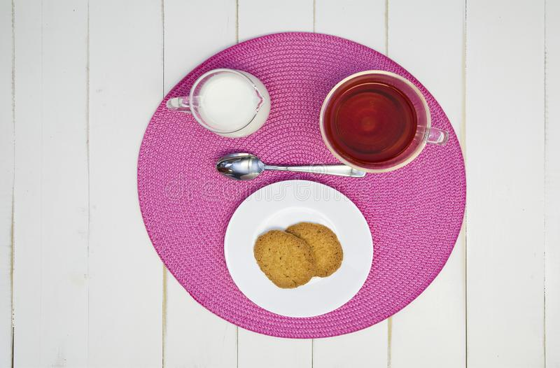 Afternoon Hot Tea and Cookies II royalty free stock images