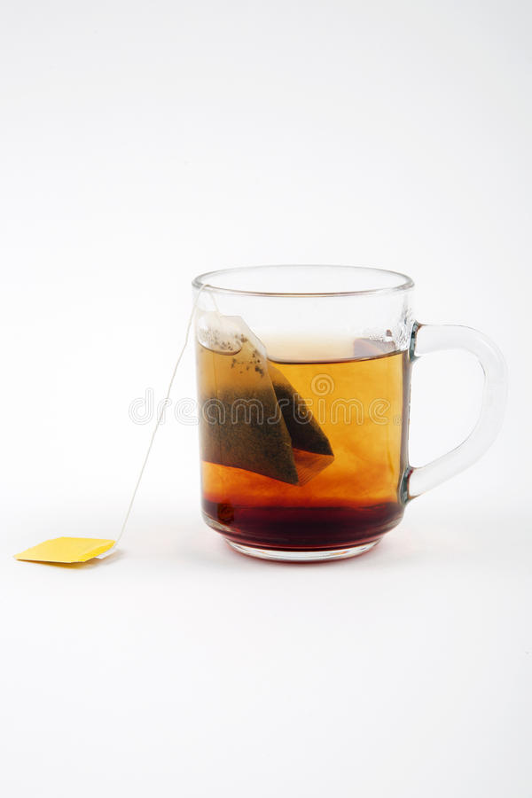 Download Hot tea in glass stock photo. Image of up, yellow, breakfast - 36746666