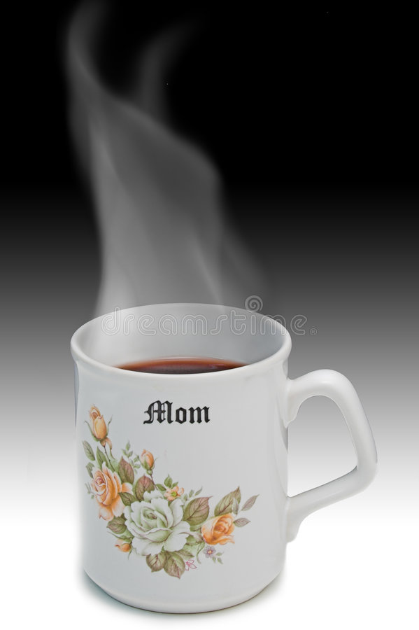 Hot Tea for Mom stock image