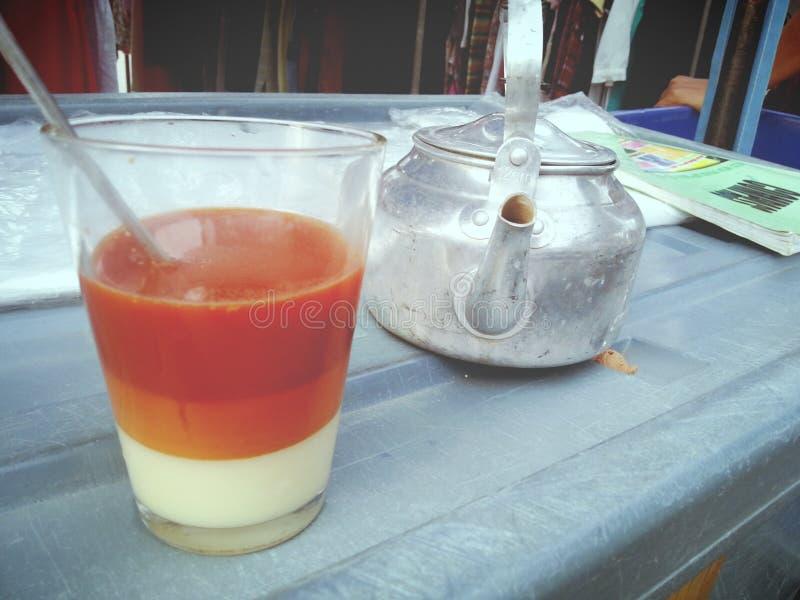 Hot tea in Thailand stock image