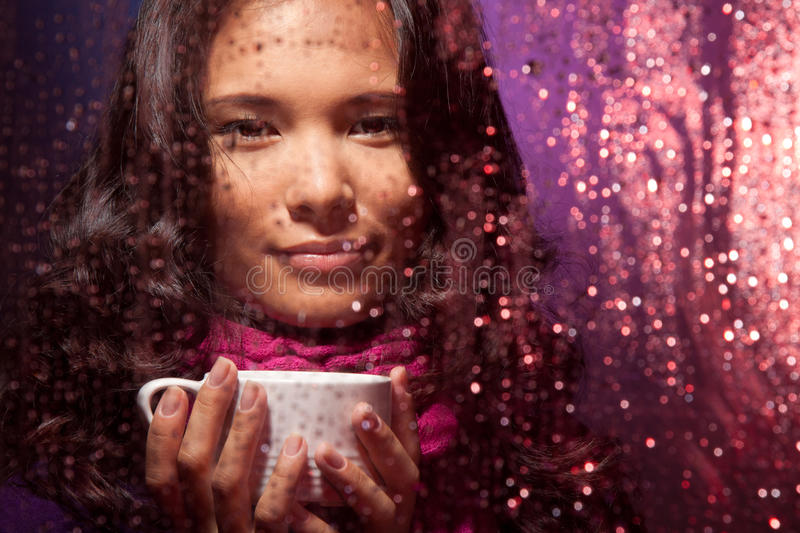 Download Hot Tea Very Nice In Cold Rainy Weather Stock Image - Image: 20772797